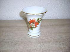 Kleine Vase echt Erzgebirge Freiberg Porzellan m Goldrand www.maisold24.com
