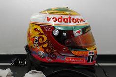 Lewis Hamilton's helmet, McLaren, Interlagos, 2012