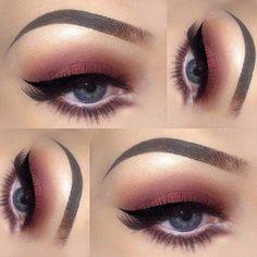 Blue Eyes: Bright-Eyed Burgundy Makeup Look