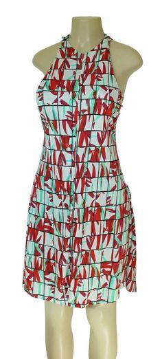 NWT KENZO Mini Dress M S Summer Sleeveless Red White Batwing Wings $645.00 !!! #Kenzo #Sundress