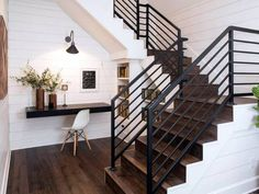 Joanna Gaines Decor Advice White and Wood Staircase