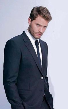 There is no one who wears a suit and tie like Jamie Dornan!! 50 Shades of Christian and Ana