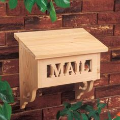 cute and unique wooden mailbox