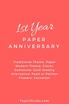 1st Year Of Marriage Anniversary Themes Flowers And Gift Ideas The First