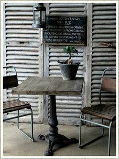 Oak topped cafe table from quirky interiors