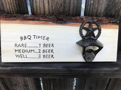ideas for diy wood gifts for dad bottle opener Redneck Gifts, Bbq Gifts, Thoughtful Gifts For Him, Romantic Gifts For Him, Man Cave Gifts, Diy Gifts For Kids, Relationship Gifts, Wood Gifts, Groomsman Gifts