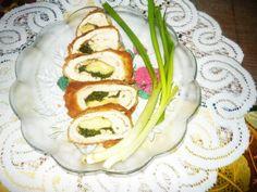 Roladki drobiowe z serem i zieleniną. Wspaniały pomysł na obiad!