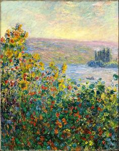 Flowerbeds at Vetheuil - Claude Monet