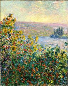 Flowerbeds at Vetheuil - Claude Monet