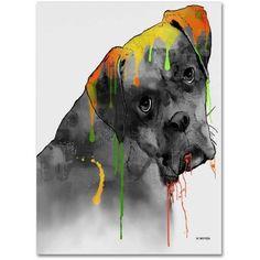 Marlene Watson Boxer Canvas Art, Size: 24 x 32, Multicolor