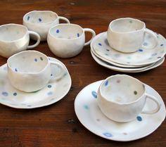 "Coffee Set ""Sakuro"" by Katsue Kusumi. #ceramic #art #alpha #artisan #coffee #katsuekusumi #design #tableware"