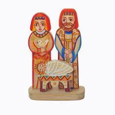 Presépios Internacionais  : Presépio da Arménia em madeira pintado