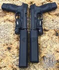 M&P with Silencerco Osprey Ninja Weapons, Weapons Guns, Guns And Ammo, Zombie Weapons, Armas Ninja, Custom Guns, Weapon Concept Art, Cool Guns, Fantasy Weapons