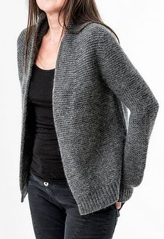 Ravelry: Marmor Cocoon stricken a knit and crochet community Mohair Cardigan, Knit Cardigan Pattern, Vest Pattern, Crochet Jacket, Sweater Knitting Patterns, Knit Jacket, Crochet Cardigan, Knit Patterns, Free Knitting