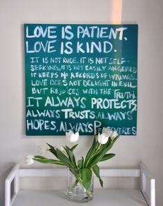 Love is Patient Love is Kind  #decor #walls