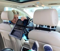 2GoTablet iPad Holder for the Car- mount between headrests for full viewing in back seat:Amazon:Computers & Accessories