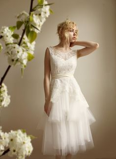 MathildeLace and Tulle Wedding dress Etsy Exclusive  by Leanimal, $1375.00