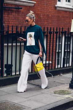The Best Street Style Looks From London Fashion Week Spring 2018 Best Street Style, Spring Street Style, Cool Street Fashion, Street Style Looks, Street Chic, Love Fashion, Street Wear, Autumn Fashion, Chubby Fashion