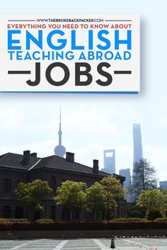 English Teaching Abroad jobs are perhaps one of the best ways to see the world and to earn an income at the same time! But just how easy is it to take to the road and find paid teaching work in far-flung lands? Click here to find out...