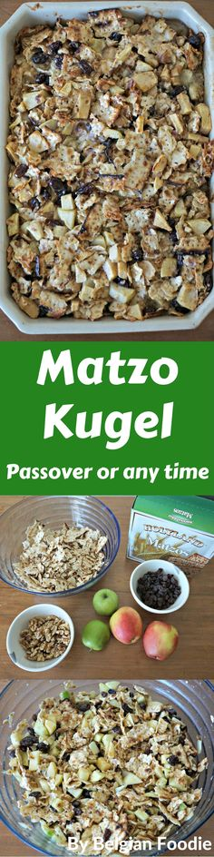 Matzo Kugel (or Matzo pudding) is a Passover favorite, yet can be made year round.