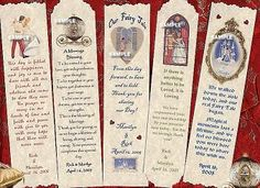 Favors Bookmarks Fairytale Princess Theme Wedding Party Favors Could print something similar