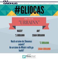 Gàidhlig /'S URRAINN - to be able to /An urrainn? - Is/Are ... able? Nach urrainn? - Isn't/Aren't ... able? 'S urrainn... - ... is/are able/Chan urrainn do - ... isn't/aren't able/ An urrainn do Sheumas snàmh? Chan urrainn dha snàmh idir.