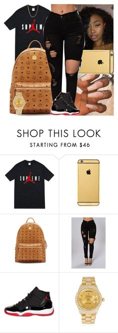"""""""Untitled #1450"""" by msixo ❤ liked on Polyvore featuring Goldgenie, MCM, Retrò and Rolex"""