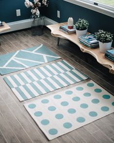 Learn how to paint a simple rug for a beautiful statement piece for your home!