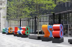 The NUMBERS sculptures are a monumental example of American pop artist Robert Indiana's long-held fascination with the power of numbers, a subject which stands as one of his most important iconographic themes.