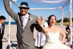 Bring your own personality to your beach wedding. It doens't all have to be seashells and palm trees. DIY wedding alter arch