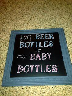DIY baby shower chalkboard sign idea. Man shower or Dadchelor party