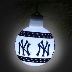new york yankees led light up ball ornament