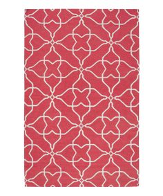 Take a look at the Pale Jade & Honeysuckle Pink Frontier Wool Rug on #zulily today!