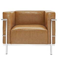 Charles Le Corbusier LC2 Grande Tan Club ArmChair AG Modern