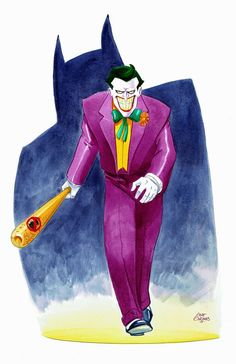 The Joker from Batman The Animated Series Im Batman, Batman Art, Batman Superhero, Comic Books Art, Comic Art, Dc Comics Peliculas, Nananana Batman, Batman The Animated Series, Joker Art