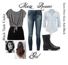 """Maze Runner Character - Girl"" by nightowlskylines ❤ liked on Polyvore"