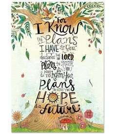 Motivate and inspire with the powerful message on this Scripture-based poster! Jeremiah is beautifully illustrated through a creative Doodle Art tree design on this Rejoice Inspire U poster. Bible Verse Wallpaper, Bible Verse Art, Bible Verses Quotes, Bible Scriptures, Image Jesus, Bibel Journal, Jeremiah 29, Favorite Bible Verses, Creative Teaching