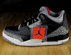 my favorite sneaker. air jordan black cement III's