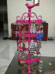 """It's always good to know that our buyers are happy with our products. Read the review of our Tweet Rotating Earring Stand- """"Excellent product, Very beautiful colour. My earrings looks beautiful and easy to handle in this earring stand.""""  Click here to buy now- http://www.livingwithelan.co/organization-storage/jewelry-boxes-stands/elan-tweet-rotating-earring-stand"""