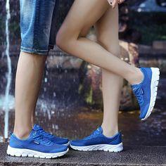 f144ef67 Duży rozmiar Męskie buty do biegania Letnie oddychające siatkowe trampki  dla kobiet Lekkie męskie buty sportowe