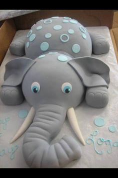 Een taart voor de babyshower oid