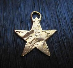 Rustic Textured Artisan Star Charm and by VDIJewelryFindings