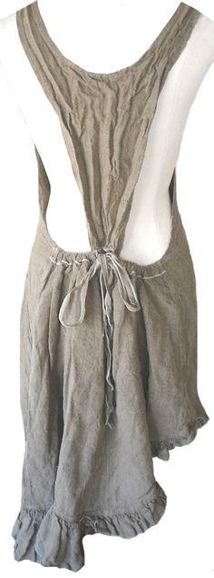 Back sample of the  Harvest Apron Dress