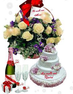 Beautiful Love Pictures, Birthdays, Happy Birthday, Table Decorations, Cake, Desktop, Happy Birthday Pics, Roses, Anniversaries