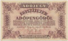 100000 Adópengö 1946 (Egyszázezer) Ungarn Zweite Republik