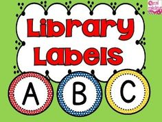 Library Labels {Editable Classroom Library Labels} - Primary Colors Classroom Decor  $