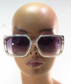 04997ccc4c99 Ted Lapidus 70 s 80 s Iridescent Lucite Disco Sunglasses - France     TEDLAPIDUS 70s Sunglasses