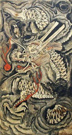 korean dragon painting