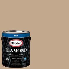 Glidden Diamond 1 gal. #HDGWN20U Highland Plains Neutral Satin Interior Paint with Primer