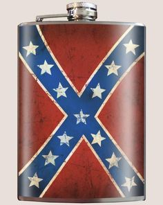 Stainless Steel Flask 8 oz Liquor Alcohol Wedding Party Drink Rebel Flag Stars